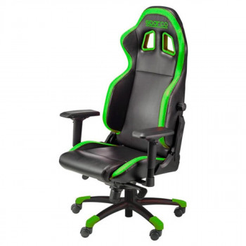 Silla SPARCO Gaming Grip. Negro/Verde (00976NRVD)