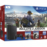 PS4 1 TB + WATCHDOGS + WATCHDOGS 2