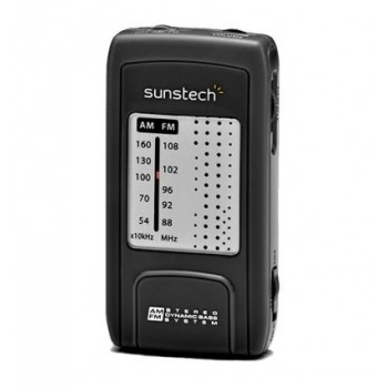 Radio Bolsillo Sunstech Negra